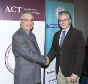 ACT's Provost Dr. Stamos Karamouzis together with TCB's President Mr. Yiannis Aslanis