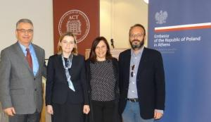 The Ambassador of the Republic of Poland to Greece visits ACT