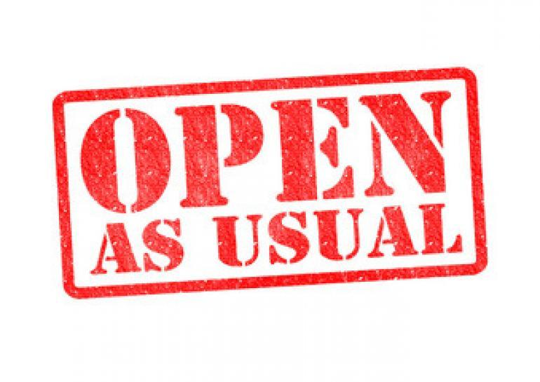 ACT open as usual on Monday, January 9