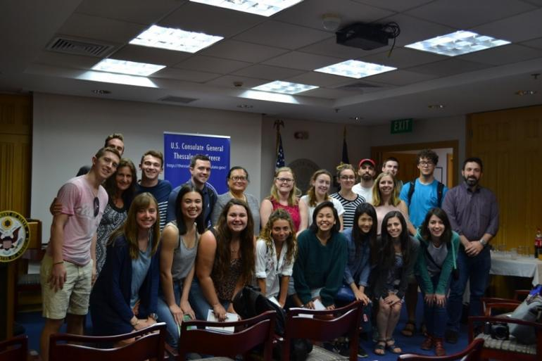 ACT welcomes professor Carlene Hempel and Journalism students from Northeastern University