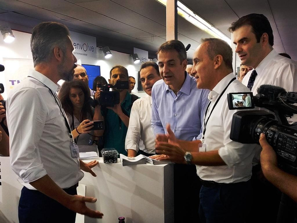 Greek Prime Minister visits ACT's Entrepreneurship Hub booth at TIF 2019